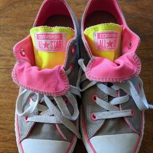 Girls Chuck Taylor Converse - double tongue size 2